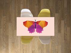 """Die #Tischfolie mit dem Design """"Origami Butterfly"""" für deine IKEA Möbel und vieles mehr… #Designfolie #Hack #Dekorfolie"""