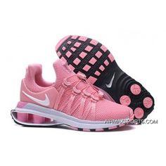 587f0bd4ef Nike Air Shox Flyknit White Pink Black Shox R4 Women's Athletic ...