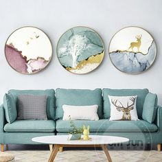 Abstract watercolor circle Canvas Painting Poster Print animal Wall Art Pictures For Living Room Bedroom Aisle cafe Unique Decor - Wohnaccessoires Living Room Pictures, Wall Art Pictures, Painting Pictures, Picture Wall Living Room, Animal Pictures, Bed In Living Room, Living Room Decor, Living Room Prints, Bedroom Prints