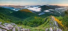 Summer morning at the summit of Sivec mountain (Altitude 781 m), nearby the city of Košice, Slovakia.