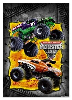 Monster Jam Trucks Party Loot Bags 8 Pack : Childrens Party Favor Sets