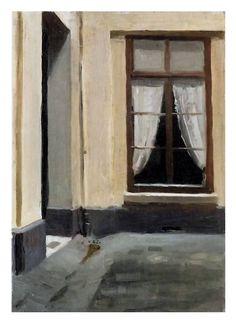 Edward Hopper (1882-1967) Interior Courtyard at 48 rue de Lille, Paris, 1906