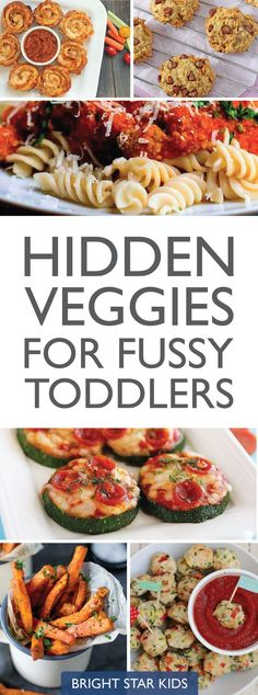 Hidden Veggies Recipes for fussy toddlers // kids dinner ideas