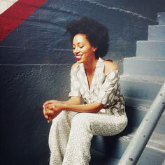 Natural Belle: Solange Knowles on Instagram. Love the whole look!