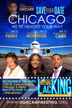 Chicago - Sept 11-13, 2013:  Nothing Lacking Campmeeting 7pm nightly.