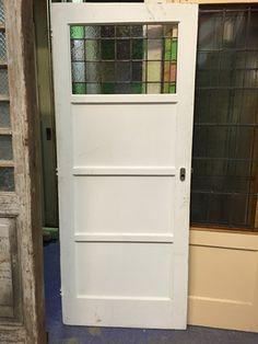 nr.  gl221 deur met glas in lood bovenlicht
