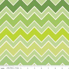 Medium Shaded Chevron Grasshopper by Riley Blake Designs - 1 Yard Cut - Chevron Fabric