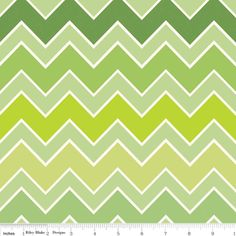 Medium Shaded Chevron Grasshopper by Riley Blake Designs - 1 Yard Cut - Chevron Fabric Owl Fabric, Chevron Fabric, Grey Fabric, Textile Patterns, Print Patterns, Thing 1, Nursery Curtains, Jar Labels, Riley Blake