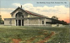 Divided Back Postcard Zoo Building, Swope Park Kansas City, MO Kansas City Zoo, Kansas City Missouri, Zoo Pictures, Excelsior Springs, Family Vacation Destinations, Auditorium, Park, History, Building