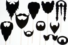 Beards on a stick photobooth PROPS on a by itrhymeswithorange, $25.00