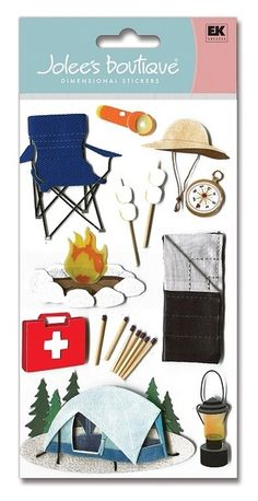 Camping & Hiking > Camp 3D Stickers - Jolee's Boutique: Stickers Galore $5.49