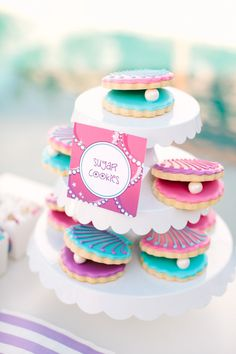 Barbie™ The Pearl Princess Party Clam Cookies with Pearls