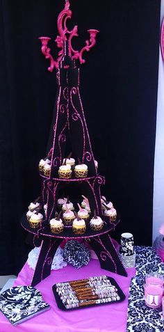 I made The Eiffel Tower Cupcake stand Paris, Eiffel Tower Party Theme