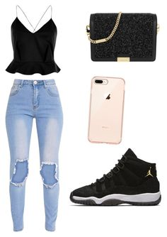 """""""Untitled #222"""" by quezg1 ❤ liked on Polyvore featuring River Island, MICHAEL Michael Kors and NIKE"""
