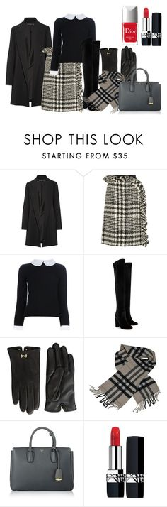 """""""Today's choice: fall look"""" by mag1727 ❤ liked on Polyvore featuring The Row, Simone Rocha, Alice + Olivia, Aquazzura, Ted Baker, Burberry, MCM and Christian Dior"""