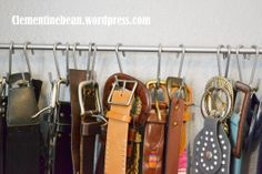 Organizing Belts using S-hooks: Only $5 to create