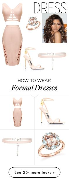 """""""Без названия #49"""" by bitchyoncebaby on Polyvore featuring Coleman, Bloomingdale's, Tom Ford, New Look and graduationdaydress"""