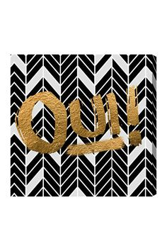 Oliver Gal Oui Canvas Wall Art on @HauteLook