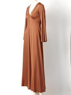 70s Scott Barrie Matte Jersey Maxi Dress 1st Dibs