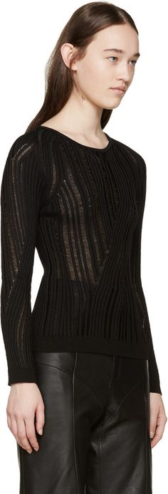 Black Marcy Mouline Sweater
