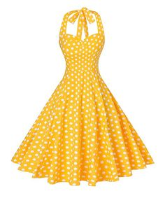 Looking for V fashion V fashion Women's Rockabilly Vintage Polka Dots Halter Cocktail Swing Dress ? Check out our picks for the V fashion V fashion Women's Rockabilly Vintage Polka Dots Halter Cocktail Swing Dress from the popular stores - all in one. Plus Size Maxi Dresses, 50s Dresses, Pretty Dresses, Fashion Dresses, Short Sleeve Dresses, Vintage Dresses 50s, Halter Dresses, Retro Dress, Evening Dresses