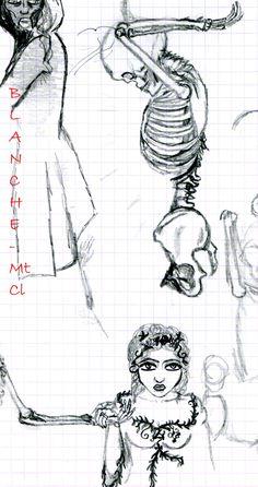 Sketch, Drawing, Illustration - Pen Skeleton