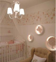 Lights on wall Baby Bedroom, Nursery Room, Girl Nursery, Girl Room, Girls Bedroom, Bedroom Decor, Nursery Ideas, Room Ideas, Wc Decoration