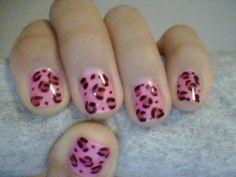 Cheetah nails.