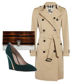 @Who What Wear - If your annual salary is around $120,000…  At this point, you can afford to splurge on a luxury item that you'll have forever. Consider adding a classic Burberry London trench or similarly timeless items to your closet. Just make sure to limit these clothing purchases, so you don't exceed 5% of your take-home pay.  For example: Proenza Schouler Extra Small Lunch Bag ($685) in Snakeskin/Leather; Chloe Beckie Pumps ($462); Burberry London Cotton-Twill Trench Coat ($1495).