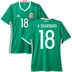 d10d30527 Andres Guardado Mexico adidas 2016 17 Home Replica Jersey - Green. Mexico  National Team ...