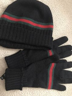 9a54ba87e12 Authentic Gucci Beanie With Gloves Pair  fashion  clothing  shoes   accessories  mensclothing