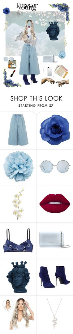 """""""i'm blue"""" by marshakaethlyn ❤ liked on Polyvore featuring Edit, Chanel, Gucci, Pier 1 Imports, Lime Crime, Marc Jacobs, Givenchy, Le Silla and Nephora"""