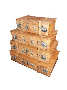 Set of Vintage Leather Suitcases - $1500.