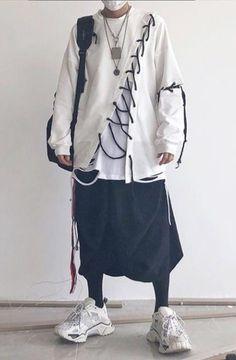 Fashion Wear, Fashion Outfits, Fashion Trends, Mode Alternative, Mode Man, Cyberpunk Fashion, Character Outfits, Japan Fashion, Mode Style