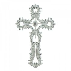 This cross has a classic yet lavish design that will transform any wall. Open scrollwork allows wall color to show through to make an eye-catching decoration for your home. Hook on back for easy hanging. Item weight: dimensions: W x H x Cross Wall Decor, Tree Wall Decor, Metal Wall Decor, Starburst Wall Decor, Medallion Wall Decor, White Crosses, Wall Crosses, Spiritual Decor, Open Wall