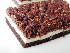 Tuxedo Cheesecake Brownies from Practically Raw Desserts by Amber Shea Crawley Raw Desserts, Gluten Free Desserts, No Bake Desserts, Just Desserts, Dessert Recipes, Dessert Blog, Gf Recipes, Candy Recipes, Healthy Baking