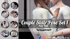 Simsworkshop: Couple Stair Pose Set 1 by ConceptDesign97 • Sims 4 Downloads