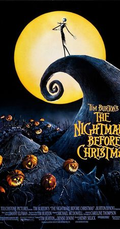 Directed by Henry Selick.  With Danny Elfman, Chris Sarandon, Catherine O'Hara, William Hickey. Jack Skellington, king of Halloween Town, discovers Christmas Town, but doesn't quite understand the concept.