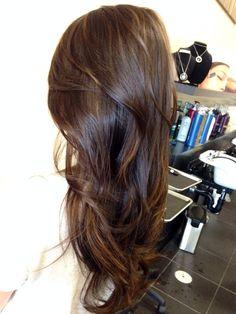 Asiático Color Del Pelo, Destacados Pelo Asiático, Destacados Balayage, Asiático Barrido De Pelo, Asian Hair Layers, Hair Asian, Highlights Dark