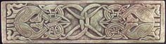 Earthsong Celtic  tile.  11.5 x 3 Celtic eagle knot border tile  $24.95.   Shown in mossy stone UG