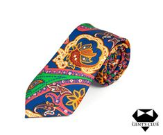 CRAVATA EXTRAVAGANTA MULTICOLOR FLORAL GENT'S CLUB Club, Floral Tie, Model, Accessories, Fashion, Floral Lace, Moda, Scale Model
