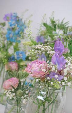 Lilac, pink and blue flower arrangement phone wallpaper - Sweetbell flowers