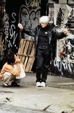 David Bowie & Jeffrey Wright in Basquiat (1996) - Directed by Julian Schnabel