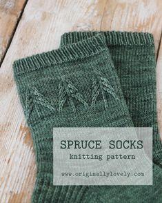 Spruce Socks Knitting Pattern by Kaitlin Blasing of Originally Lovely