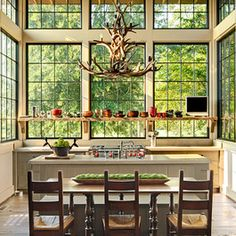 Antler Chandelier Design Ideas, Pictures, Remodel, and Decor