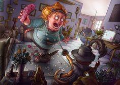 Illustration 2012 by Michal Dziekan, via Behance