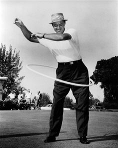 Sam Snead gives the hula hoop a whirl.