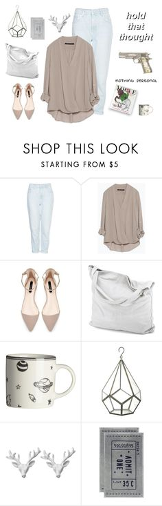 """White Blank Page"" by pamelagonzales ❤ liked on Polyvore featuring Topshop, Zara, chissene, H&M, Parlane and Wildfox"