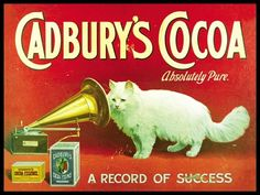 Vintage Cat Advertisements