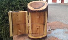 Mesquite log jewelry box, etsy.com/shop/woodolboys